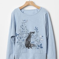 Gap Girls Embellished Graphic Raglan