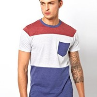French Connection Colour Block T-Shirt at asos.com