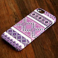 Violet Pink and White Floral Pattern iPhone 6 Plus/6/5S/5C/5/4S/4 Protective Case #340