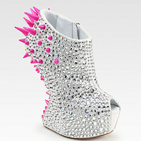Giuseppe Zanotti - Mixed Media Curved-Wedge Platform Ankle Boots