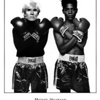 Andy Warhol and Jean Michel Basquiat - Poster by Michael Halsband (24 x 30)
