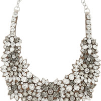 Valentino Romantic Flowers crystal and satin bib necklace – 50% at THE OUTNET.COM