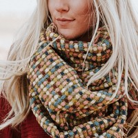 Stained Glass Woven Infinity Scarf