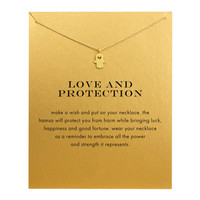Hot Sale Sparkling Hand gold lplated Pendant necklace Clavicle Chains necklace Statement Necklace Women Jewelry