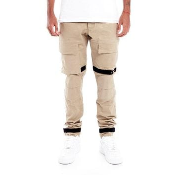 Strapped Up Slim Utility Pant Sand Camo Khaki