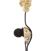 Cranium Crushers Gold Skull Ear Buds