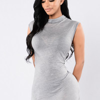 Scarred Heart Top - Grey