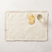 Waving Fringe Placemats by Anthropologie Neutral Set Of 4 House & Home