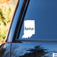 Indiana Home Decal | Indiana State Decal | Homestate Decals | Love Sticker | Love Decal  | Car Decal | Car Stickers | Bumper | 106