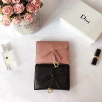 1807 Dior Fashion Cowhide flip-over Chinese Wallet