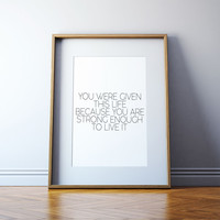 Printable quotes Quote art Typography Wall artwork Home decor Wall art Printable art Gold print Motivational poster Inspirational quote