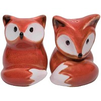 Salt & Pepper Shaker Set - Foxy