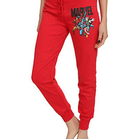 4MARVEL RED REVERSIBLE GIRLS PAJAMA PNTS