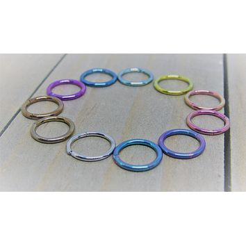 "Titanium hinged segment ring 16g 5/16"" anodized pick your color hypoallergenic body jewelry hoop"