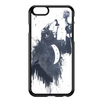 Wolf Song 3 Black Hard Plastic Case for iPhone 6 by Balazs Solti