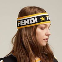 FENDI New Fashion Letter Star Mania logo Women Men headband