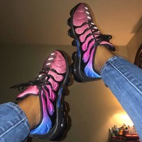 Nike Air Vapormax Plus Women Men Wave Type Leisure Transparent air cushion sole Sneskers B-CSXY Pink/Black