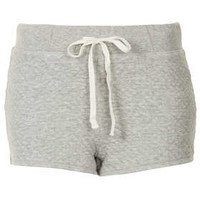 Grey Marl Quilted Runner Shorts