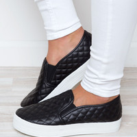 Koda Quilted Slip-on Sneakers - Black