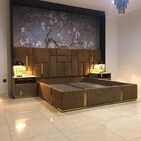 Bright Luxury King Size Bed For Home Or Hotel Furniture