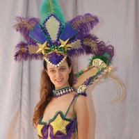 Carnival Costume in Mardi Gras Colors by EnRapturingReVisions