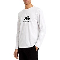 Balenciaga classic solid color long-sleeved T-shirt sweater
