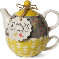 Happiness is a cup of tea Teapot Set