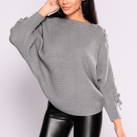 Cross Town Sweater - Grey