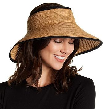 Nordstrom Rack D. Natural Roll-Up Straw Visor