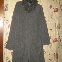 vintage hipster grey wool blend long sweater coat by Hilary RADLEY cANADA sz 10