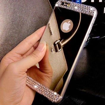 Shine Mirror iPhone X 8 7 6S Plus & IPhone XR XS MAX Case Cover + Gift Box