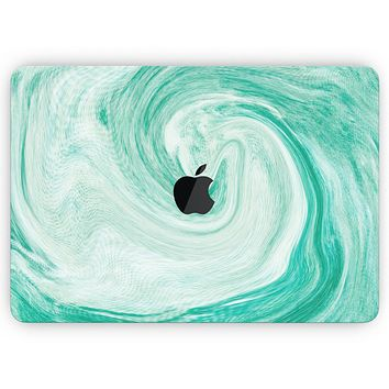 """Swirling Mint Acrylic Marble- Skin Decal Wrap Kit Compatible with the Apple MacBook Pro, Pro with Touch Bar or Air (11"""", 12"""", 13"""", 15"""" & 16"""" - All Versions Available)"""