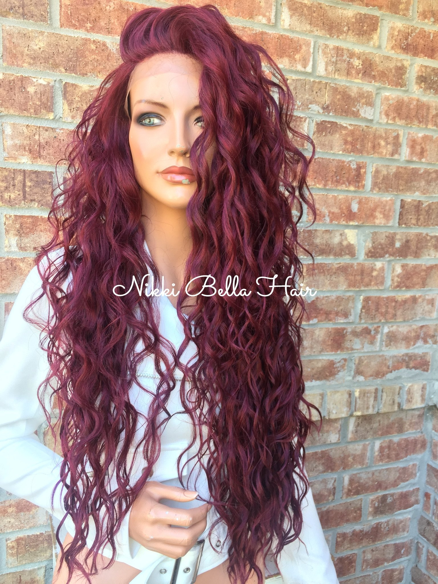 """Image of Peg Long Waves 26"""" Lace front wig"""