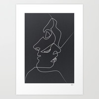 Close Noir Art Print by Quibe