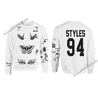One Direction HARRY STYLES Tattoo 94 Sweatshirt