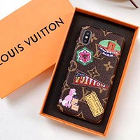 Louis Vuitton LV Fashion Print iPhone X XS XS MAX XR Phone Cover Case For iphone 6 6s 6plus 6s-plus 7 7plus 8 8plus