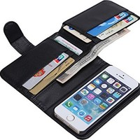 WODISON Multifunction PU Leather Stand Credit Card Wallet Case For iPhone 5 5S