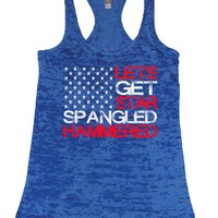 American Flag Star All Over Hammered Fourth Of July Burn Tank Top