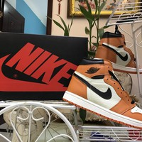 [Free Shipping ]Air Jordan 1 Retro High OG Reverse Shattered Backboard Away  Basketball Sneaker