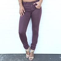 Classic Skinny Pants In Plum