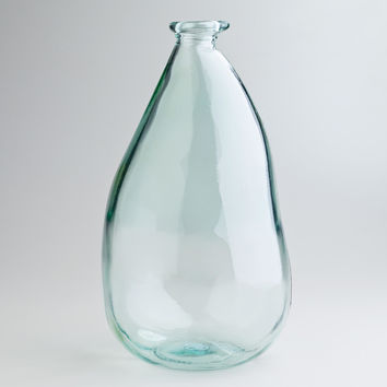 "14"" Clear Barcelona Vase - World Market"