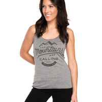 The Mountains Are Calling Triblend Racerback Tank