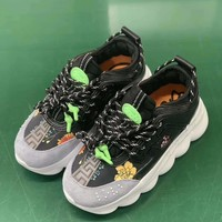 Versace Black/Gray Women Men Fashion Sneakers Sport Shoes