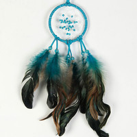 Blue Feather Drop Dream Catcher