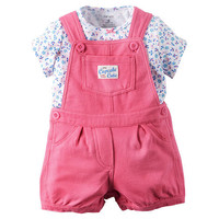 "Carter's 2 Piece ""Little Cupcake Cutie"" Overall & Top Baby Girl 12M"