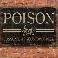 Halloween wooden sign.  Poison Consume at your own risk. Approx. 13x19x3/4 inches. Handmade.