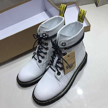 Dr.Martens Women Fashion Casual Low Heeled Shoes Boots