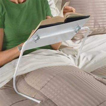 ADJUSTABLE BED AND CHAIR BOOK HOLDER - MADE IN THE U.S.A.