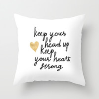 Keep Your Head Up Throw Pillow by Tangerine-Tane