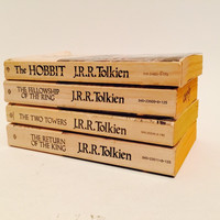 The Hobbit and Lord of the Rings by J. R. R. Tolkien 1975-79 Edition Paperback Set